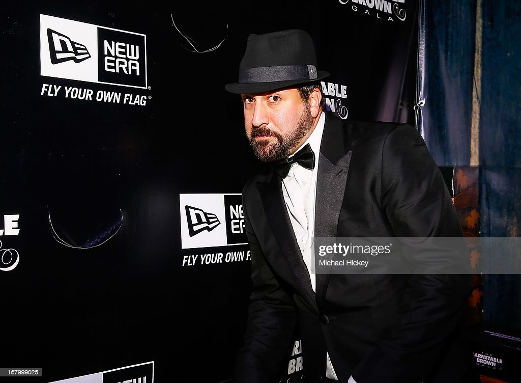 <a gi-track='captionPersonalityLinkClicked' href=/galleries/search?phrase=Joey+Fatone&family=editorial&specificpeople=204237 ng-click='$event.stopPropagation()'>Joey Fatone</a> seen at the New Era Cap tent at The Barnstable Brown Gala on May 3, 2013 in Louisville, Kentucky.