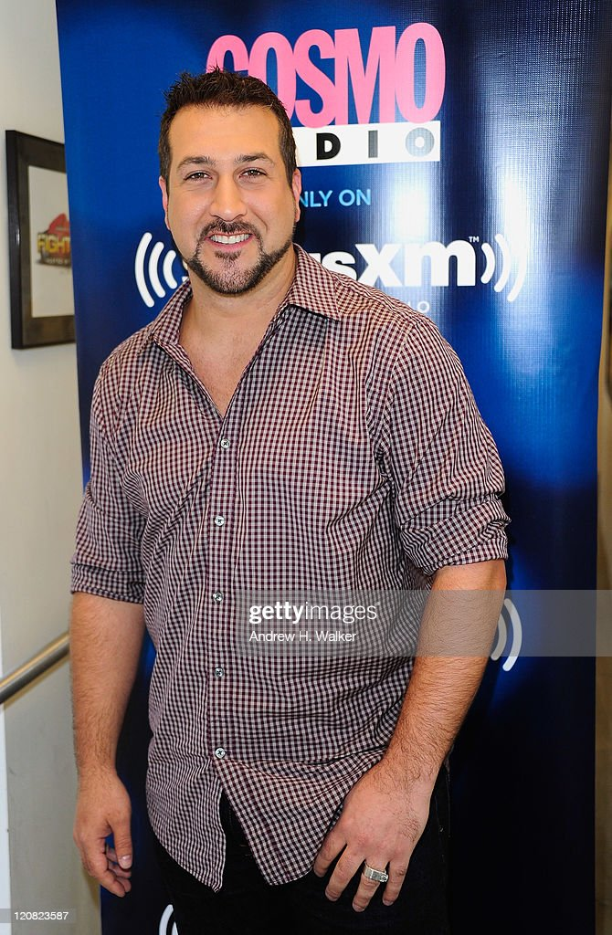 Joey Fatone visits SiriusXM Cosmo Radio on August 11, 2011 in New York City.