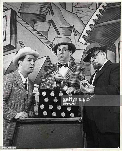 Joey Faye Phil Silvers and William David are shown here in the play High Button shoes