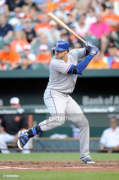 Joey Gallo of the Texas Rangers bats against the Baltimore Orioles at Oriole Park at Camden Yards on June 29 2015 in Baltimore Maryland