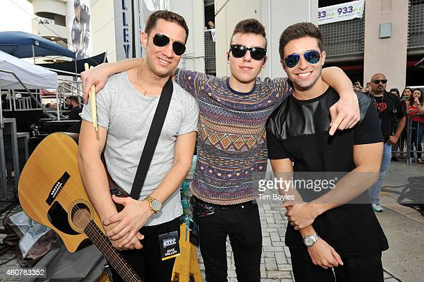 "Joey Gandolfo Kevin Smart and Jake Miller attends 933 FLZ's Jingle Ball ""PreShow Free Show"" 933 FLZ's Jingle Ball 2014 official preshow at Amalie..."