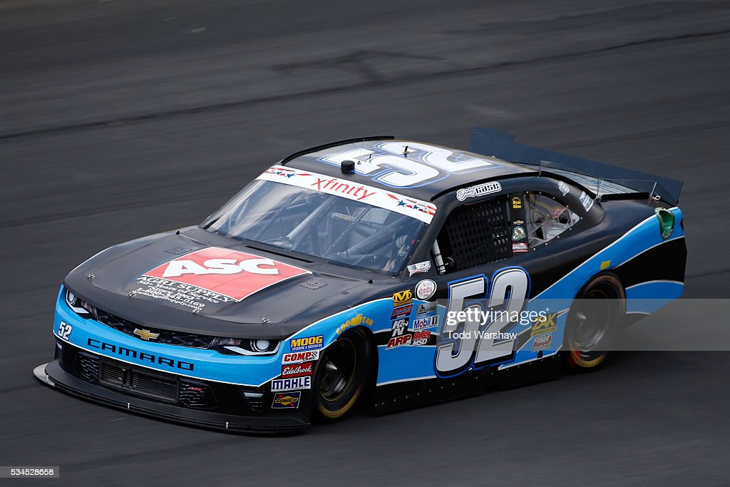 Joey Gase, driver of the #52 Agri Supply Chevrolet, drives during practice for the NASCAR XFINITY Series Hisense 4K TV 300 at Charlotte Motor Speedway on May 27, 2016 in Charlotte, North Carolina.