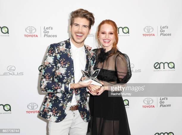 Joey Graceffa and Madelaine Petsch at the Environmental Media Association's 27th Annual EMA Awards at Barkar Hangar on September 23 2017 in Santa...