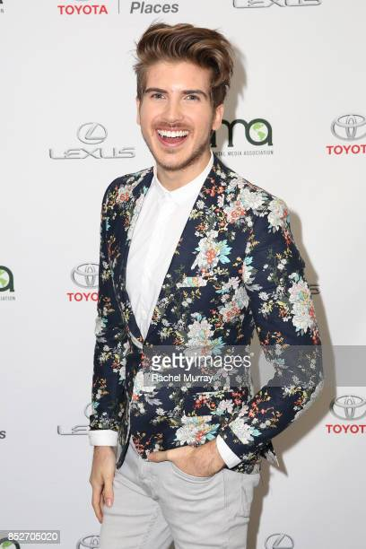 Joey Graceffa at the Environmental Media Association's 27th Annual EMA Awards at Barkar Hangar on September 23 2017 in Santa Monica California