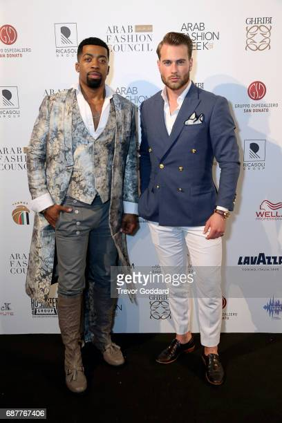 Joey Harris and Kim Andersson attend the Arab Fashion Week Ready Couture Resort 2018 Gala Dinner on May 202017 at Armani Hotel in Dubai United Arab...