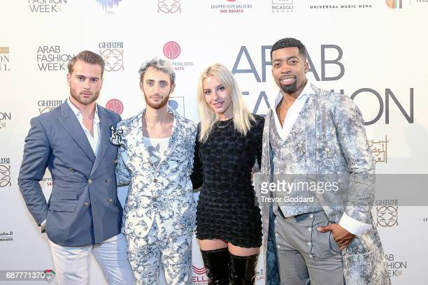 Joey Harris Sophie Beem Jacob Abrian and Kim Andersson attend the Arab Fashion Week Ready Couture Resort 2018 Gala Dinner on May 202017 at Armani...