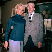 Joey Heatherton and Art Zelin In her home Rockville Centre Long Island NY Joey Heatherton's mother took the photo circa 1960 New York