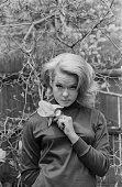 Joey Heatherton closeup holding a flower circa 1970 New York