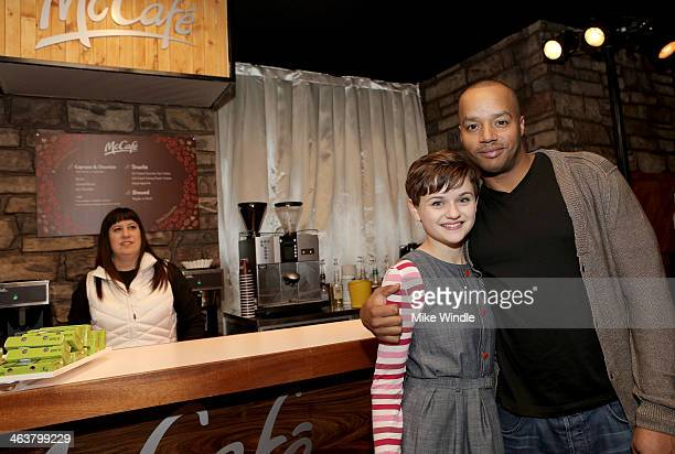 Joey King and Donald Faison attend McDonald's McCafe Presents The Village At The Lift on January 18 2014 in Park City Utah