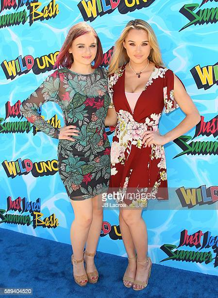 Joey King and Hunter King attend the 4th Annual Just Jared Summer Bash on August 13 2016 in Los Angeles California