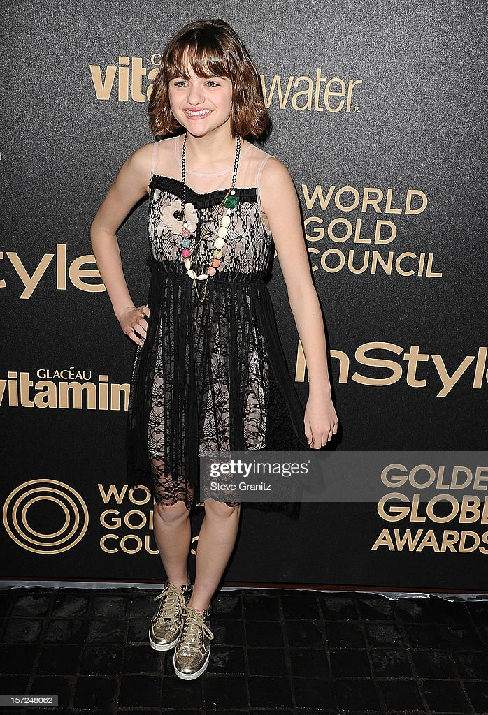 Joey King arrives at the The Hollywood Foreign Press Association And InStyle Miss Golden Globe 2013 Party on November 29, 2012 in Los Angeles, California.