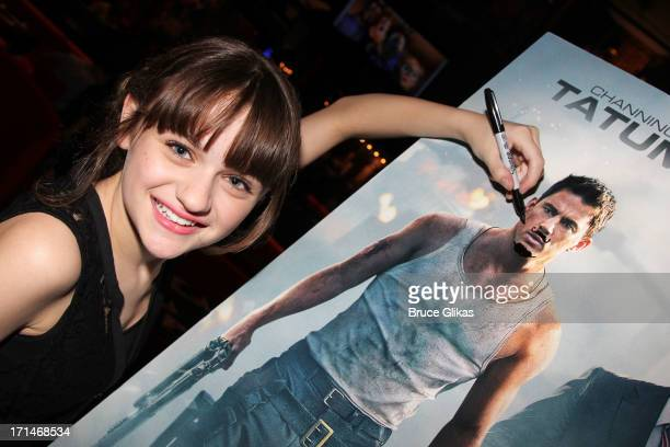 Joey King promotes 'White House Down' as she visits Planet Hollywood Times Square on June 24 2013 in New York City