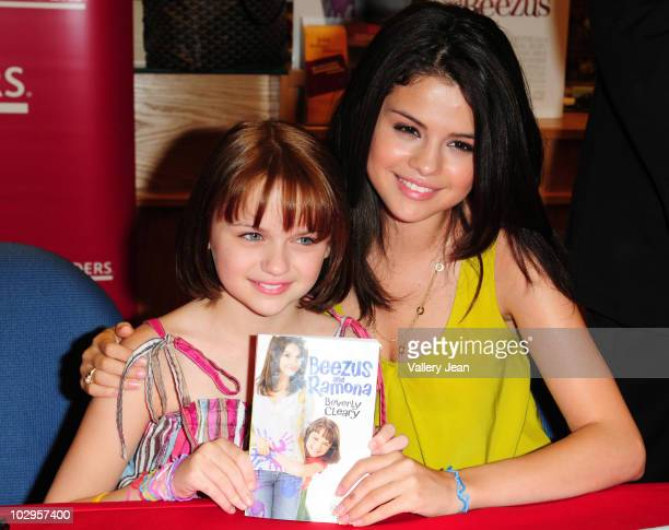 Joey Kings and Selena Gomez attend meet and greet event for the new upcoming film 'Ramona and Beezus' at Borders store on July 17 2010 in Miami...