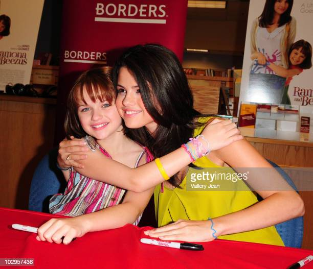 Joey Kings and Selena Gomez attends the meet and greet event for the new upcoming film 'Ramona and Beezus' at Borders store on July 17 2010 in Miami...
