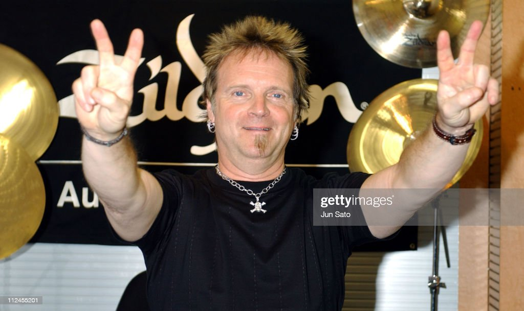 <a gi-track='captionPersonalityLinkClicked' href=/galleries/search?phrase=Joey+Kramer&family=editorial&specificpeople=1060100 ng-click='$event.stopPropagation()'>Joey Kramer</a> of <a gi-track='captionPersonalityLinkClicked' href=/galleries/search?phrase=Aerosmith&family=editorial&specificpeople=640712 ng-click='$event.stopPropagation()'>Aerosmith</a> during <a gi-track='captionPersonalityLinkClicked' href=/galleries/search?phrase=Joey+Kramer&family=editorial&specificpeople=1060100 ng-click='$event.stopPropagation()'>Joey Kramer</a> Signs Autographs to Promote Zildjian at Ikebe Gakki Music Store in Tokyo, Japan.