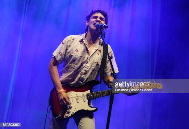 Joey La Neve DeFrancesco of 'Downtown Boys' performs onstage at The Broad on September 23 2017 in Los Angeles California
