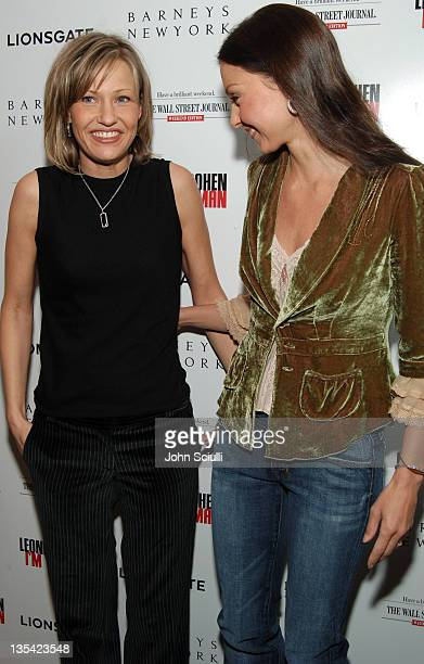 Joey Lauren Adams and Ashley Judd during 2006 Park City 'Leonard Cohen I'm Your Man' Party at 540 Main Street in Park City Utah United States