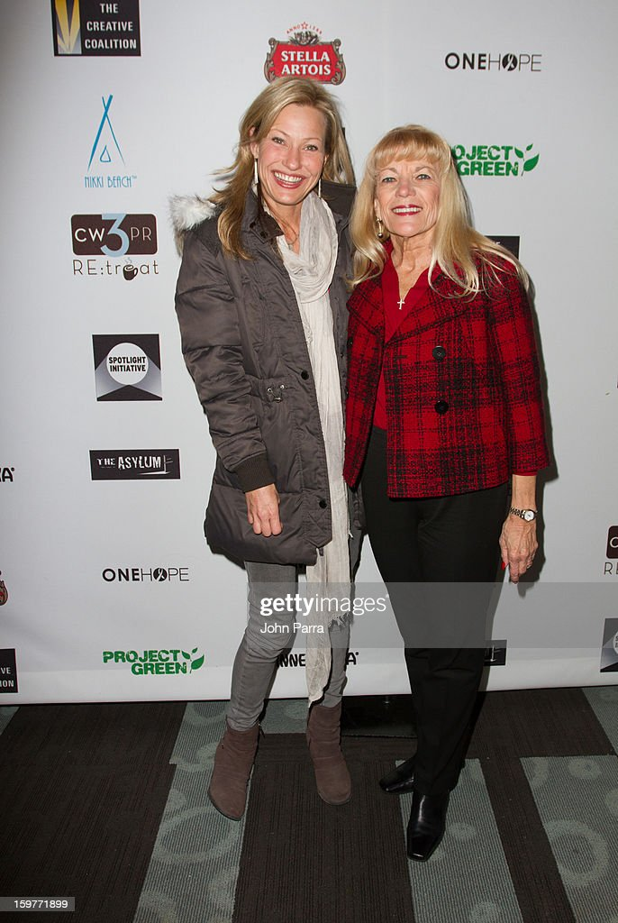 Joey Lauren Adams and Carol Ann McAdams attend the Creative Coalition Luncheon at Nikki Beach pop-up lounge & restaurant on January 19, 2013 in Park City, Utah.