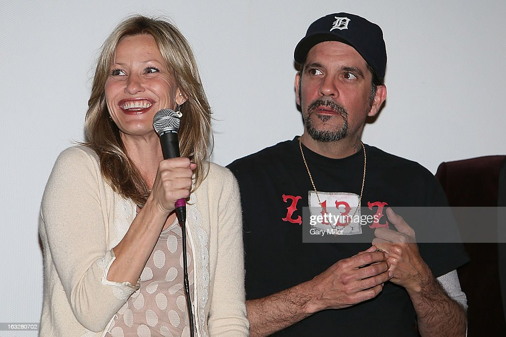<a gi-track='captionPersonalityLinkClicked' href=/galleries/search?phrase=Joey+Lauren+Adams&family=editorial&specificpeople=621841 ng-click='$event.stopPropagation()'>Joey Lauren Adams</a> (L) and Nicky Katt speak during a Q&A for the 20th anniversary screening of 'Dazed & Confused' at Marchesa Hall & Theater on March 6, 2013 in Austin, Texas.