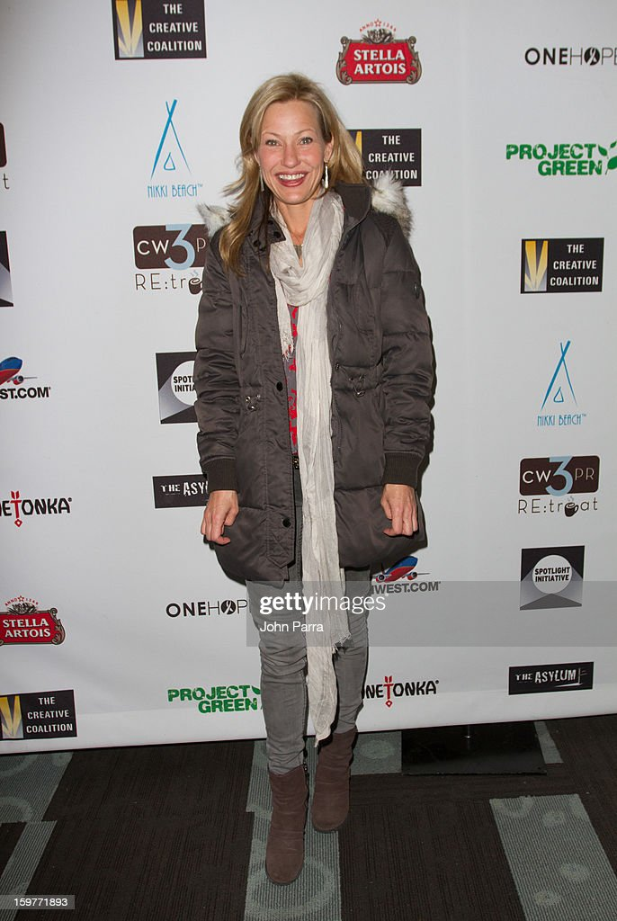 Joey Lauren Adams attends the Creative Coalition Luncheon at Nikki Beach pop-up lounge & restaurant on January 19, 2013 in Park City, Utah.