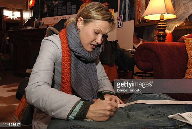 Joey Lauren Adams during 2006 Park City Levi's Dry Goods Day 6 at Main Street in Park City Utah United States