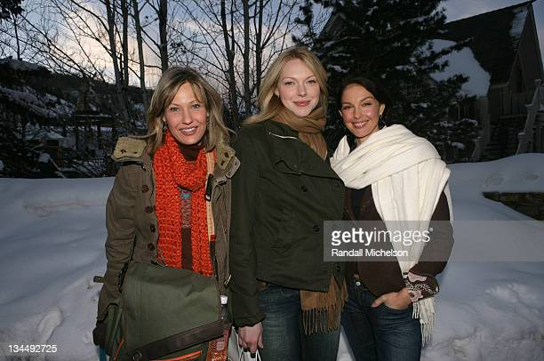 Joey Lauren Adams Laura Prepon and Ashley Judd during 2006 Sundance Film Festival 'Come Early Morning' Outdoor Portraits in Park City Utah United...
