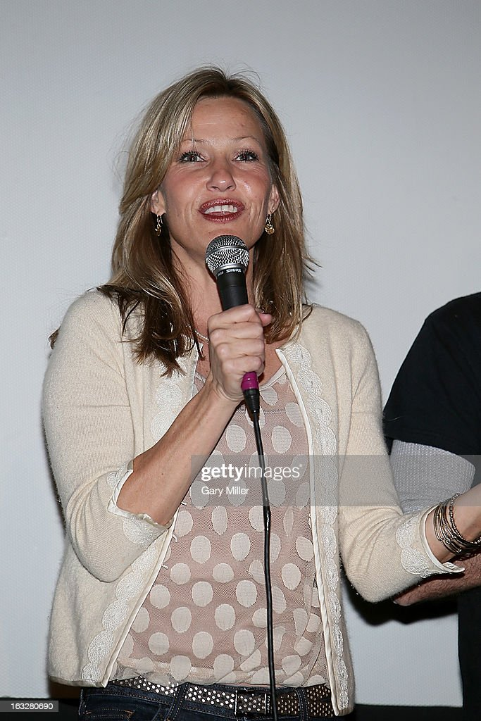 <a gi-track='captionPersonalityLinkClicked' href=/galleries/search?phrase=Joey+Lauren+Adams&family=editorial&specificpeople=621841 ng-click='$event.stopPropagation()'>Joey Lauren Adams</a> speaks during a Q&A for the 20th anniversary screening of 'Dazed & Confused' at Marchesa Hall & Theater on March 6, 2013 in Austin, Texas.