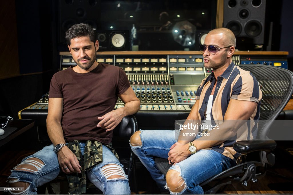 Joey Lawrence and Arturo G. Álvarez attend the listening party for Joey's album 'Imagine' in Studio City Sound on August 21, 2017 in Studio City, California.