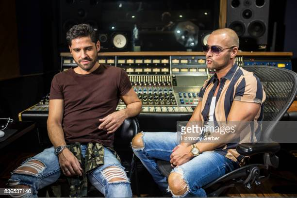 Joey Lawrence and Arturo G Álvarez attend the listening party for Joey's album 'Imagine' in Studio City Sound on August 21 2017 in Studio City...