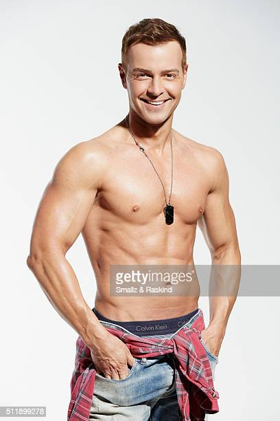 Joey Lawrence is photographed for the Men of the 90's Hot Bodies Issue for Us Weekly on April 29 2015 in Los Angeles California