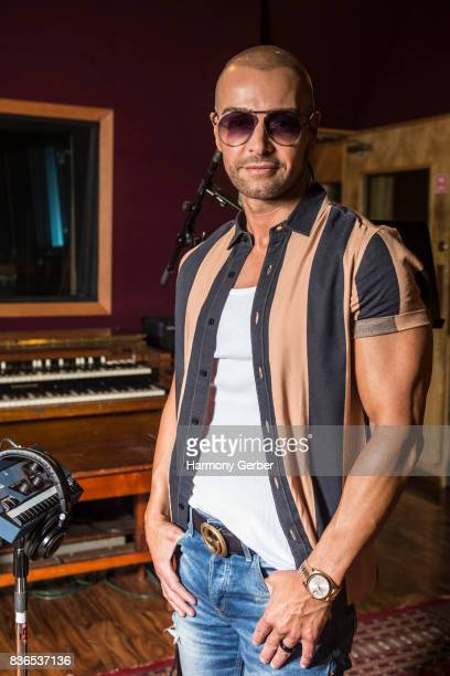 Joey Lawrence poses for some portraits at the listening party for his album 'Imagine' in Studio City Sound on August 21 2017 in Studio City California