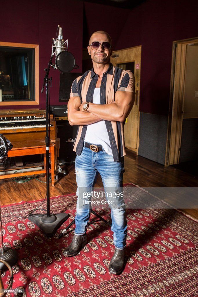 Joey Lawrence poses for some portraits at the listening party for his album 'Imagine' in Studio City Sound on August 21, 2017 in Studio City, California.