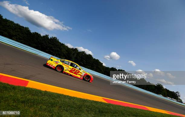 Joey Logano driver of the Shell Pennzoil Ford drives during the Monster Energy NASCAR Cup Series I Love NY 355 at The Glen at Watkins Glen...