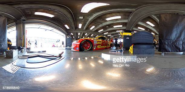 Joey Logano driver of the Shell Pennzoil Ford prepares to drive during practice for the NASCAR Sprint Cup Series Crown Royal presents the Combat...