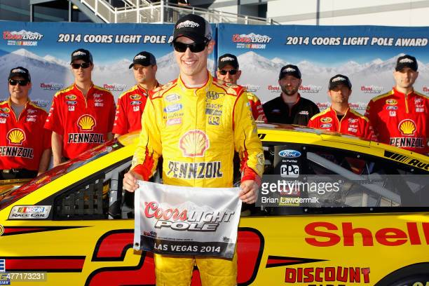 Joey Logano driver of the ShellPennzoil Ford will start on the pole after turning the fastest lap during qualifying for the NASCAR Sprint Cup Series...