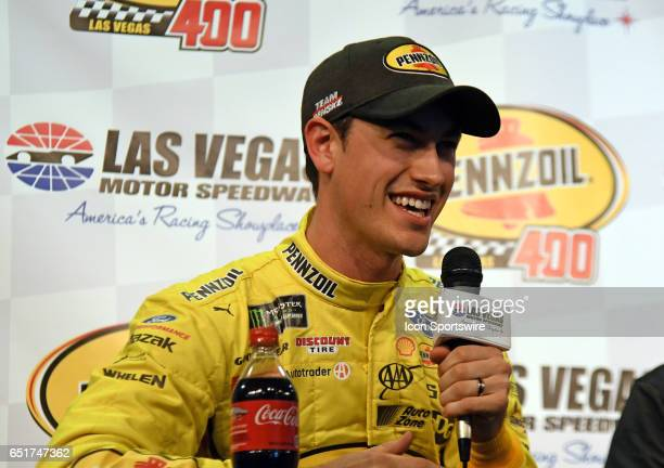 Joey Logano Team Penske Ford Fusion Rusty Barron Vice President of Marketing Shell Lubricants Americas and Chris Powell President and General Manager...