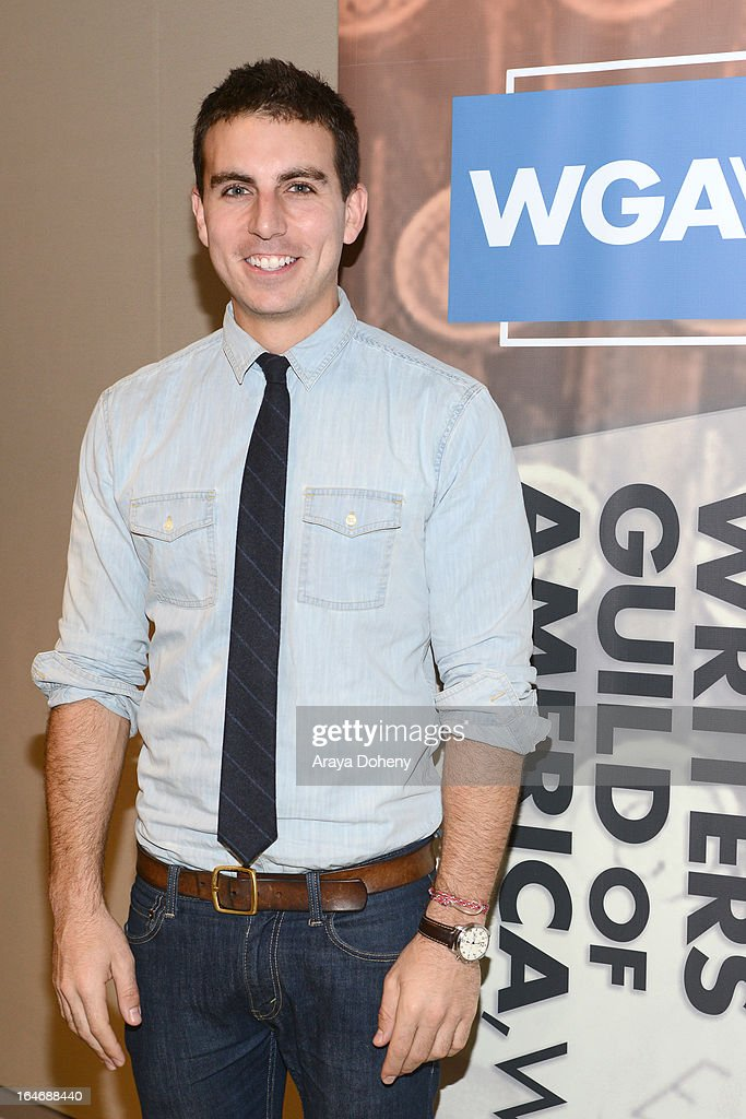 Joey Manderino attends the WGAW's 2013 TV Staffing Brief - Press Conference on March 26, 2013 in Los Angeles, California.