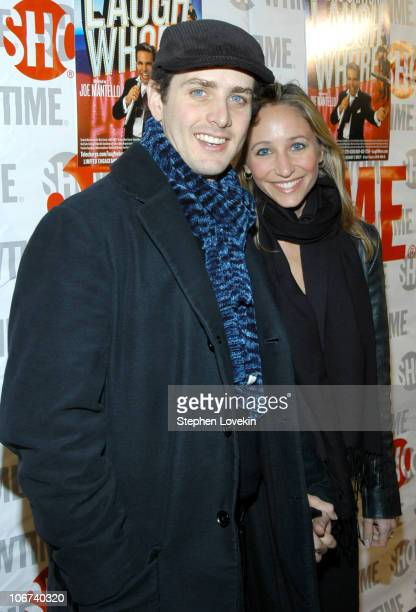 Joey McIntyre and wife Barrett during Opening Night of 'Mario Cantone Laugh Whore' Presented on Broadway by Showtime Arrivals at The Cort Theatre in...