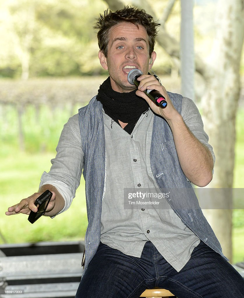 Joey McIntyre of New Kids on the Block performs at Sutter Home Winery as part of Live In The Vineyard on April 6, 2013 in Napa, California.