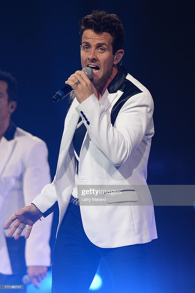 Joey McIntyre of New Kids On The Block performs during The Package Tour at BB&T Center on June 22, 2013 in Sunrise, Florida.