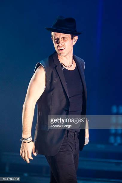 Joey McIntyre of New Kids On The Block performs on stage at Manchester Apollo on May 30 2014 in Manchester United Kingdom
