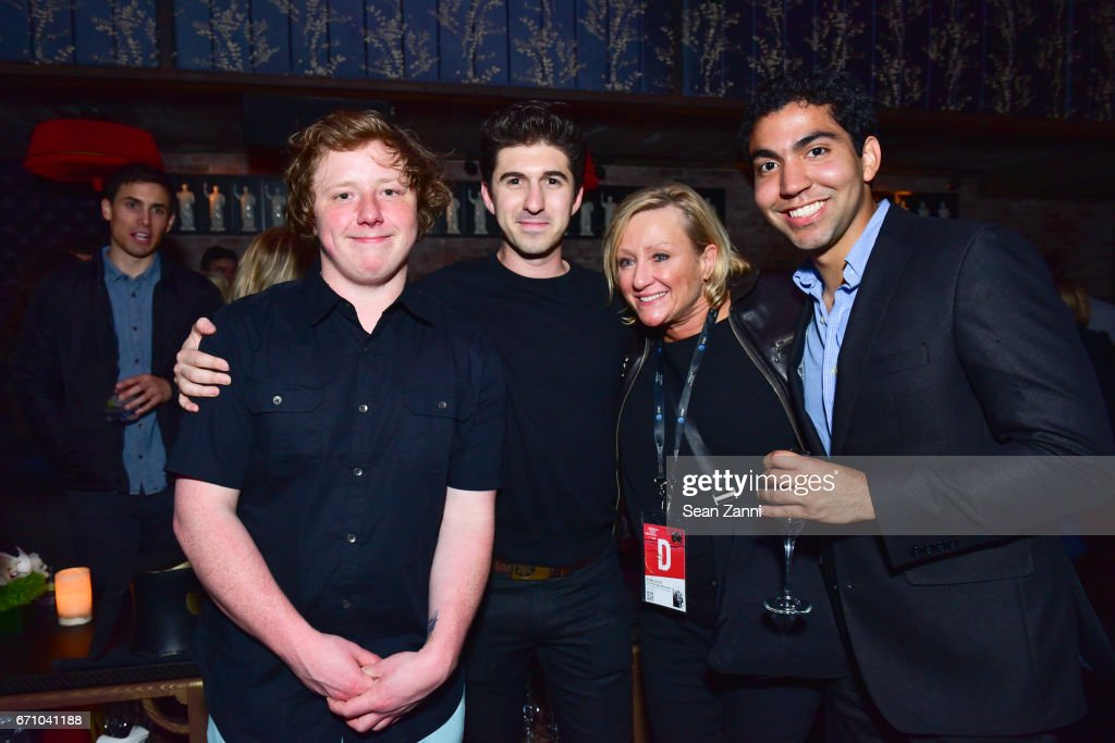 Joey Morgan, Eric Fleischman, Lisa Morgan and Guest attend the after party of the premiere of FLOWER for the Tribeca Film Festival at TAO Downtown on April 20, 2017 in New York City.