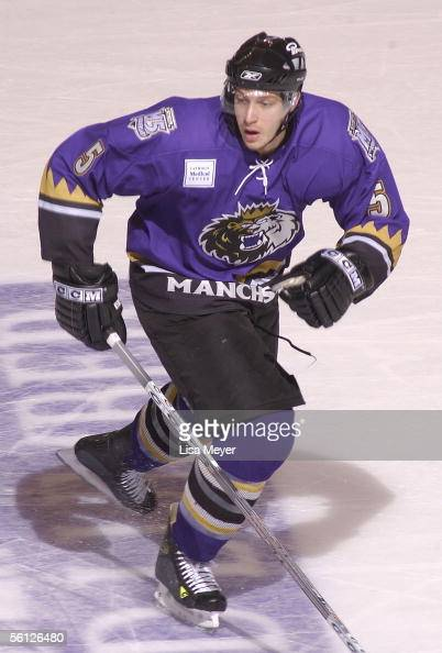 Joey Mormina of the Manchester Monarchs skates against the Bridgeport Sound Tigers at the Arena at Harbor Yard on November 4 2005 in Bridgeport...