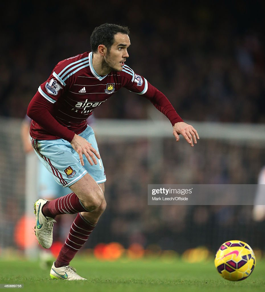 <a gi-track='captionPersonalityLinkClicked' href=/galleries/search?phrase=Joey+O%27Brien&family=editorial&specificpeople=639207 ng-click='$event.stopPropagation()'>Joey O'Brien</a> of West Ham in action during the Barclays Premier League match between West Ham United and Arsenal at the Boleyn Ground on December 28, 2014 in London, United Kingdom.