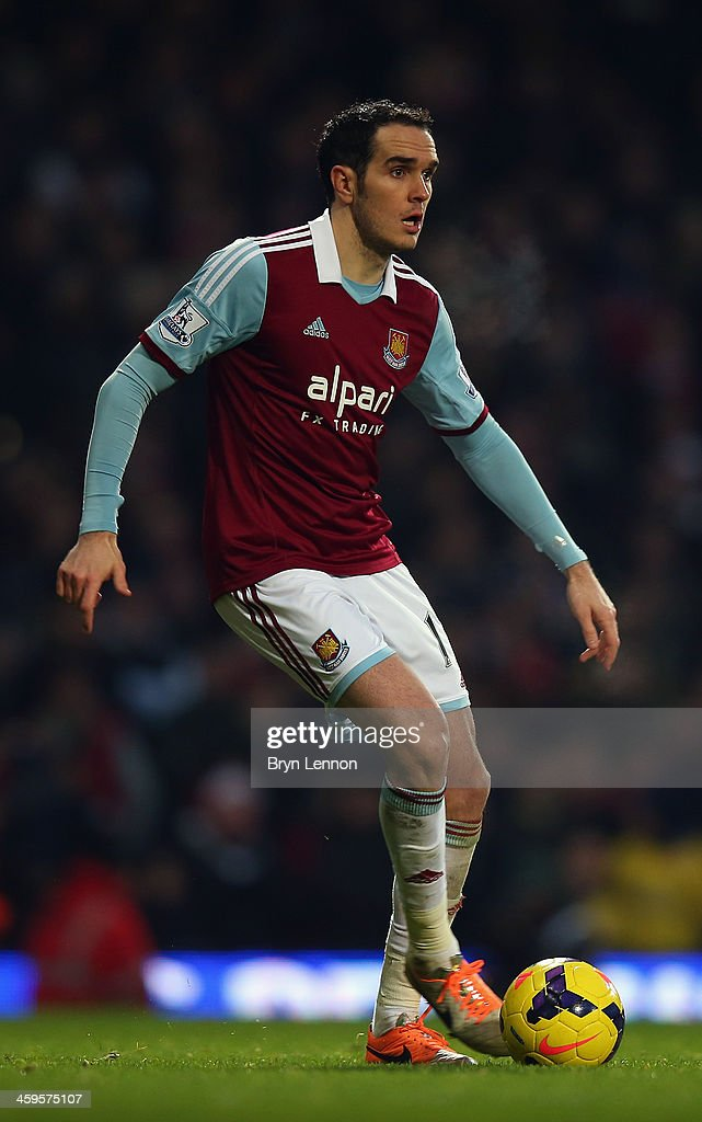 <a gi-track='captionPersonalityLinkClicked' href=/galleries/search?phrase=Joey+O%27Brien&family=editorial&specificpeople=639207 ng-click='$event.stopPropagation()'>Joey O'Brien</a> of West Ham United in action during the Barclays Premier League match between West Ham United and Arsenal at Boleyn Ground on December 26, 2013 in London, England.