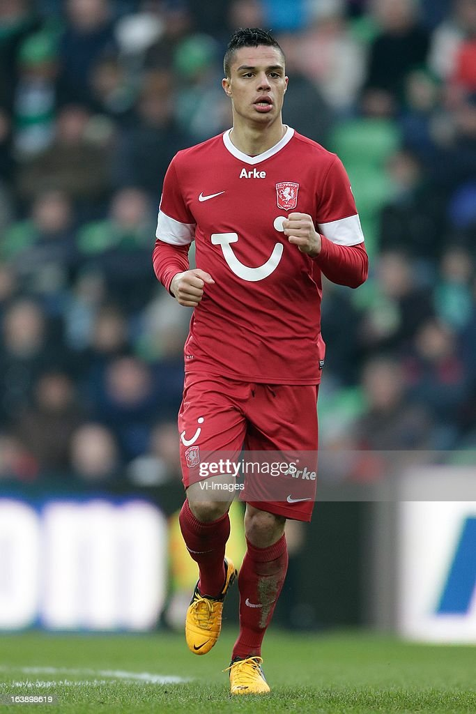 Joey Pelupessy of FC Twente during the Dutch Eredivisie match between FC Groningen and FC Twente at the Euroborg Stadium on march 17, 2013 in Groningen, The Netherlands