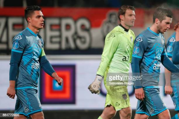 Joey Pelupessy of Heracles Almelo Bram Castro of Heracles Almelo Dries Wuytens of Heracles Almelo during the Dutch Eredivisie match between Willem II...