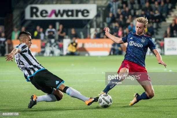 Joey Pelupessy of Heracles Almelo Frenkie de Jong of Ajax during the Dutch Eredivisie match between Heracles Almelo and Ajax Amsterdam at Polman...