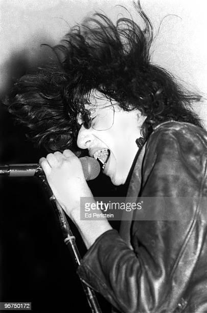 Joey Ramone of The Ramones perform at the Old Waldorf club in January 1978 in San Francisco California