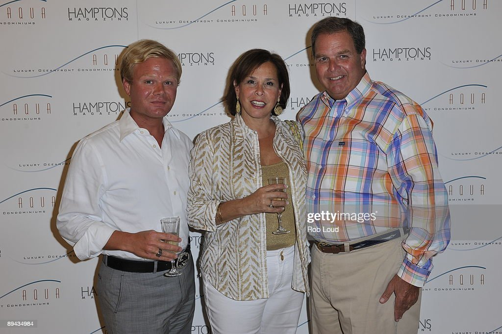 Joey Reimel Ronnie Reimel and Barry Reimel attend the opening of AQUA Luxury Oceanfront Condominiums presented by Hamptons Magazine at AQUA Luxury...